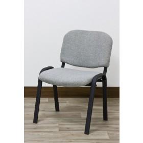 Sedia ufficio struttura tubolare rivestita tessuto colore grigio Mod WORK