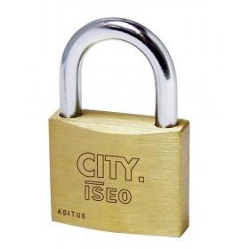 Lucchetto ottone ISEO larghezza 30 mm arco in acciaio serie CITY