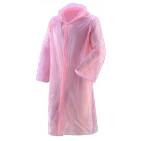 Impermeabile tascabile monouso taglia unica colore rosa pezzi 10