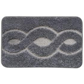 Tappeto bagno fondo antiscivolo cm 55x80 colore grigio Mod ERMES