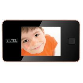 """Spioncino digitale finitura oro mm 125x68x15 schermo LCD 3.2"""" E0372"""