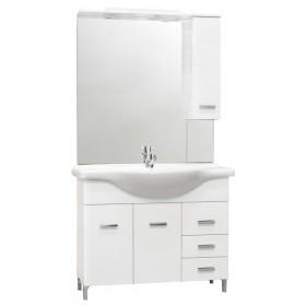 Mobile bagno completo truciolare laccato bianco cm 105 Mod DIANA