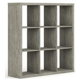 Libreria truciolare finitura cemento cm 35.4x120x121h Mod PRATICO