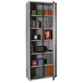 Libreria truciolare finitura cemento cm 35.7x81.6x217h Mod PRATICO