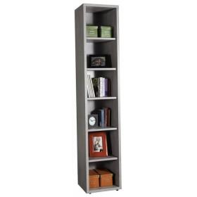 Libreria truciolare finitura cemento cm 35.7x44x217h Mod PRATICO