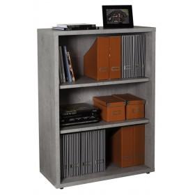 Libreria truciolare finitura cemento cm 35.7x81.6x11h Mod PRATICO