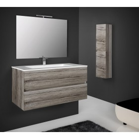 Mobile bagno legno 2 cassettoni finitura rovere grigio Mod SPLASH cm 80