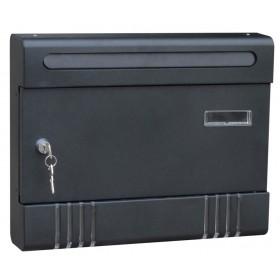 Cassetta postale in lamiera verniciata antracite componibile Mod CONDOMINIO