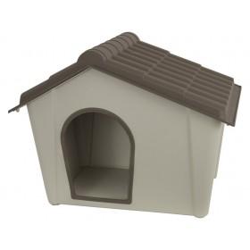 Cuccia per cani resina PVC beige/tortora cm 57x39x42h