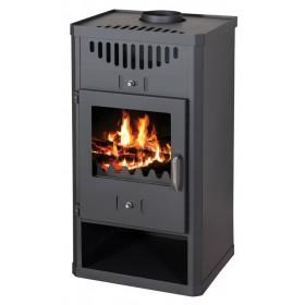 Stufa a legna 11 kW antracite GODINO vol riscaldabile 260 m³ Mod ELEGANT