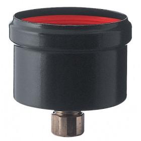 Scarico condensa porcellanato ø cm 10 SAVE nero opaco per stufa a pellet