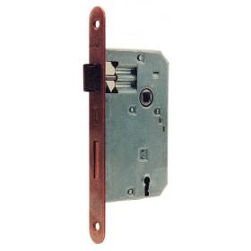 Serratura patent bronzata BONAITI entrata 45 mm quadro 8/90