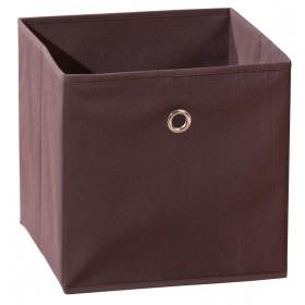 Portaoggetti poliprolipene pieghevole marrone cm 32X32X31h Mod WINNY