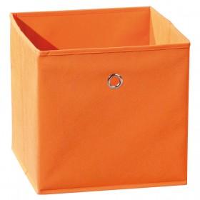 Portaoggetti poliprolipene pieghevole arancione cm 32X32X31h Mod WINNY