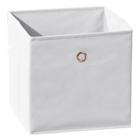 Portaoggetti poliprolipene pieghevole bianco cm 32X32X31h Mod WINNY