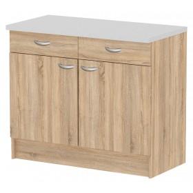 Mobile cucina 2 ante 2 cassetti legno colore quercia cm 96x50x85h Tvilum