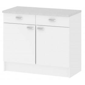 Mobile cucina 2 ante 2 cassetti legno colore bianco cm 96x50x85h Tvilum