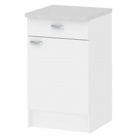 Mobile cucina 1 anta 1 cassetto legno colore bianco cm 50x50x85h Tvilum