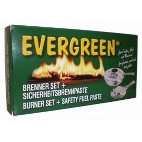 Set fornelletto per fonduta composto da bruciatore e pasta combustibile - casa giardino