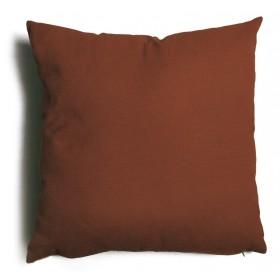 Cuscino decorativo salotto sfoderabile marrone cm 43x43 Mod TULIPANO