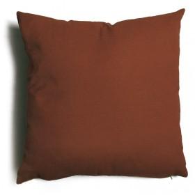 Cuscino decorativo salotto sfoderabile marrone cm 57x57 Mod TULIPANO