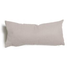 Cuscino decorativo salotto sfoderabile grigio cm 30x60 Mod TULIPANO