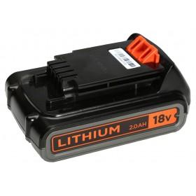 Batteria litio Black&Decker potenza 18 V - 2.0 Ah Mod BL2018