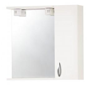 Specchio da bagno in legno laccato bianco completo di anta Mod 961