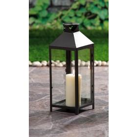 Lanterna decorativa portacandela cm 18x18x40h colori assortiti conf 6 pz