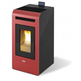 Stufa a pellet 15.5 kW bordeaux volume riscaldabile 380 m³ Mod KING 16