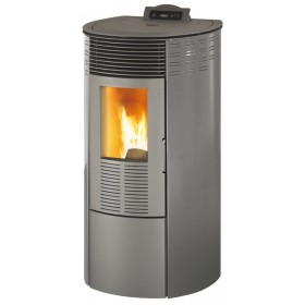 Stufa a pellet 10.1 kW bordeaux vol riscaldabile 230 m³ Mod KING 12 ROUND