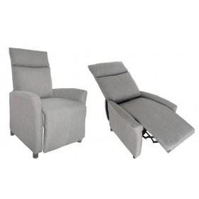 Poltrona reclinabile relax rivestimento tessuto grigio Mod. SIRIA