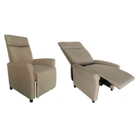 Poltrona reclinabile relax rivestimento tessuto beige Mod. SIRIA