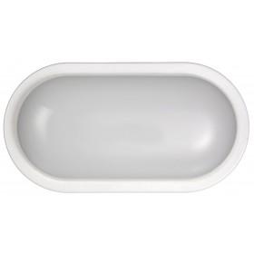 Plafoniera ovale LED 15W DURALAMP ø mm 214 colore bianco IP65