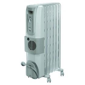 Radiatore ad olio 7 elementi DeLONGHI 2000W ventilato Mod KH77072OV