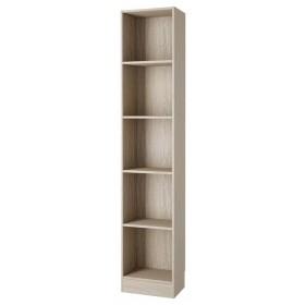Libreria 4 ripiani TVILUM colore quercia cm 41x27x203h Linea WORKING