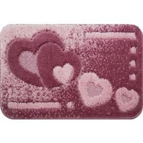Tappeto bagno fondo antiscivolo cm 55x80 colore rosa Mod ITACA