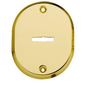 Bocchetta da avvitare in ottone mm 70x90 finitura oro lucido