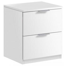 Comodino bianco 2 cassetti cm 46x38x34h Linea URBAN