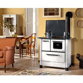 Cucina a legna NORDICA bianca potenza 5.0 kW - 143 m³ Mod ROMANTICA SX
