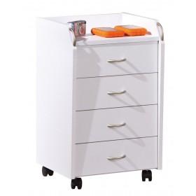 Cassettiera in laminato bianco cm 40x36x64.5h INTERLINK con ruote