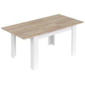 Tavolo da pranzo estensibile FORES cm 90x140-190x78h colore rovere