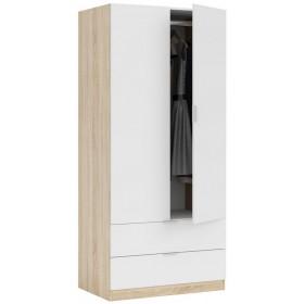 Armadio 2 ante + 2 cassetti FORES cm 80x52x180h colore rovere/bianco