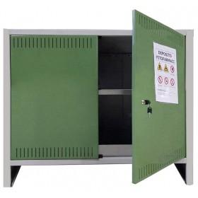 Armadio 2 ante deposito fitofarmaci cm 100x40x80h in lamiera zincata