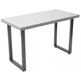 Scrivania in MDF bianco gambe in metallo cm 110x55x70h Mod ELEGANT