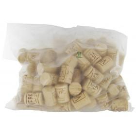 Tappi in sughero ø cm 30x40 sterilizzati e lubrificati conf 100 pezzi