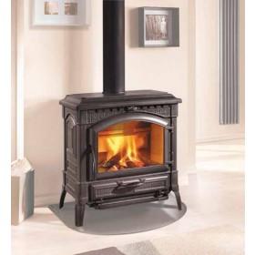 Termostufa a legna Nordica Mod. Isotta antracite 15.0 kW 430 m³ - stufa riscaldamento casa arredo interni