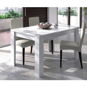 Tavolo estensibile colore bianco lucido cm 140/190x90x78h Mod KENDRA