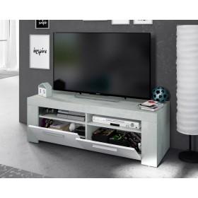 Mobile per televisione colore bianco/cemento cm 120x42x40h Mod AMBIT