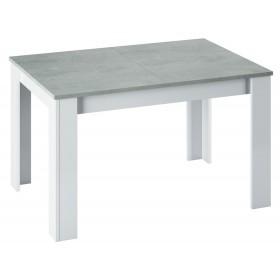 Tavolo estensibile colore bianco/cemento cm 140/190x90x78h Mod KENDRA